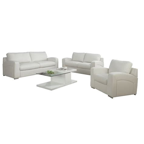 leather chair in white i8501wh
