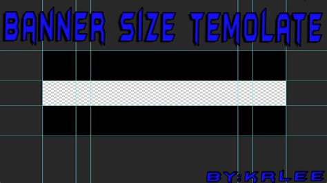 Banner Size Template Rezolucia Za Banner Krlee Youtube Banner Size Template