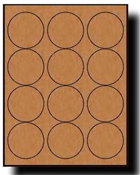 240 brown kraft labels 2 5 diameter round 20 sheets use