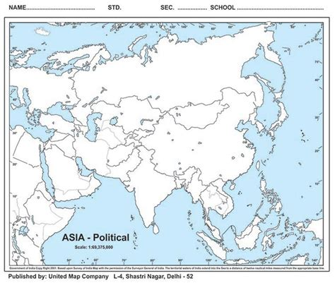 political map of asia outline maps physical outline maps political outline maps