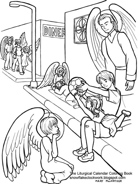 free coloring pages of of the guardian angel
