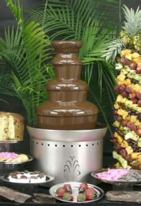 buffet enhancements chocolate fountain ss 3 tier 27 in