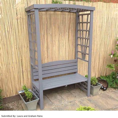 arbour bench greenfingers trellis arbour with bench on sale fast
