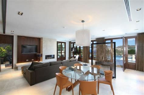 Villa Interiors by Modern Mediterranean Luxury Villa In Mallorca