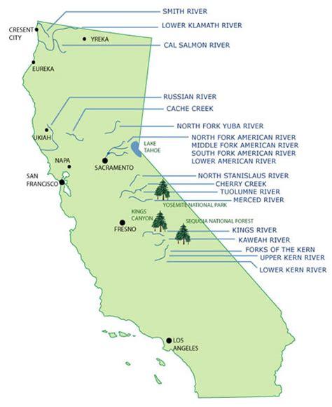 california map of rivers california map rivers