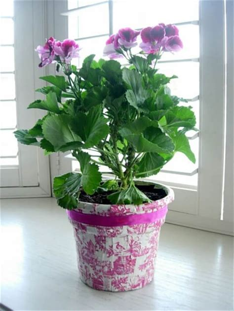 potted paper flower ideas 14 ideas for flower pots decoration with fabric diy and crafts