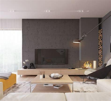 feuerschale wohnzimmer wohneinrichtung ideen mit wandverkleidung aus beton und