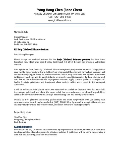 Child Development Cover Letter Cover Letter And Resume Rene