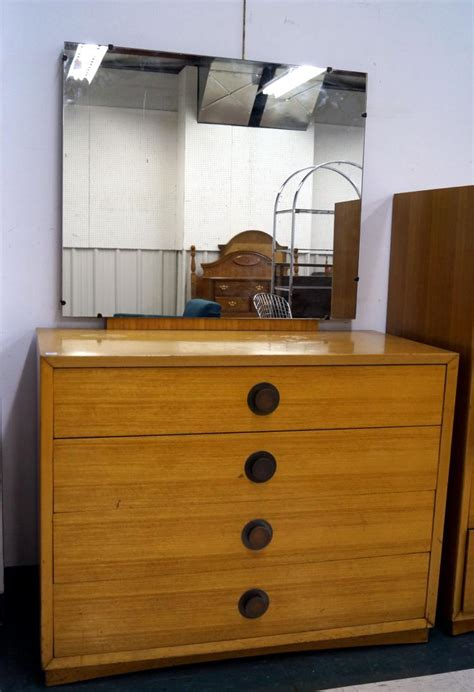 Low Height Chest Of Drawers by Mid Century Modern Bleached Mahogany Low Chest Of Drawers Wi