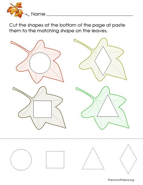 fall leaves printable activities fall leaves worksheets preschool shape printables