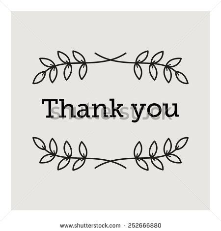 thank you card template free vector hello word circle flora object stock vector 477352303