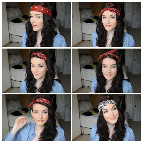 different ways to wear a bandana with hair different ways to wear a bandana hair stuff pinterest