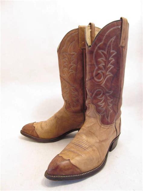 j chisholm vintage brown leather wingtip western