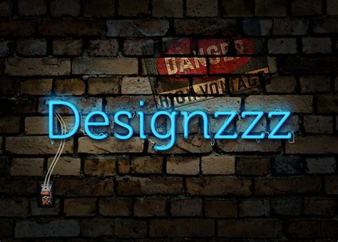 typography tutorial neon create an electrified neon text effect for wallpaper
