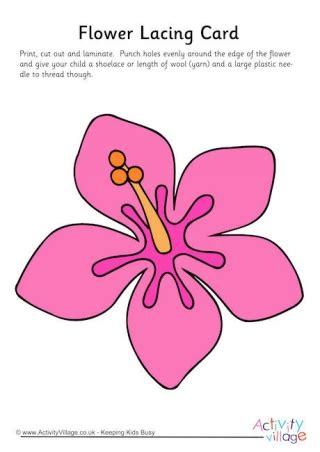 printable lacing card templates flower printables