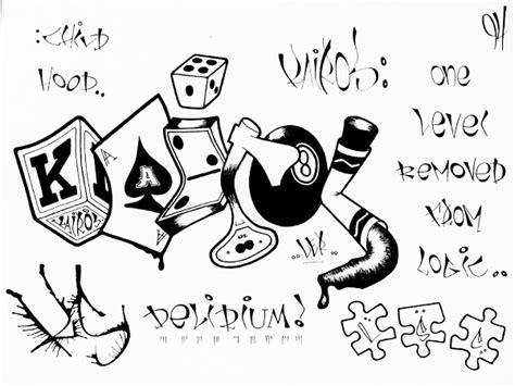 Kaos Grafity Black White crimes sketches blackbook kairos
