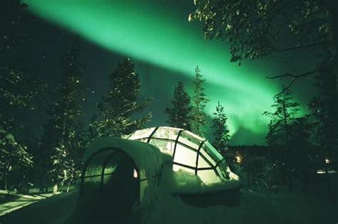 sleep under the northern lights glass igloo under aurora borealis favorite places