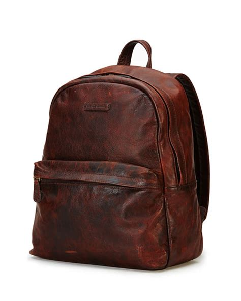 rugged leather backpack frye rugged leather backpack brown