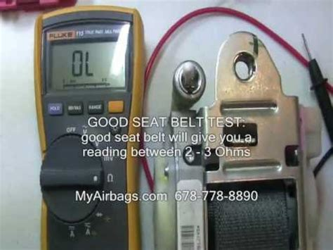 seat belt tensioner resistance high how to seat belt test resistance with a multi meter