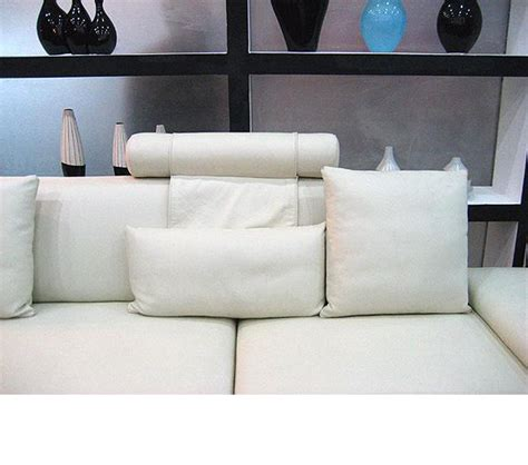 modern white sectional dreamfurniture com madrid modern white leather sectional