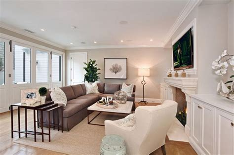 long narrow living room with fireplace in center nesting tables a trend you must follow this year