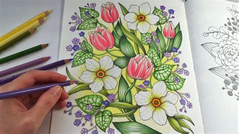 color pencil for coloring book happy garden blomstermandala coloring book coloring