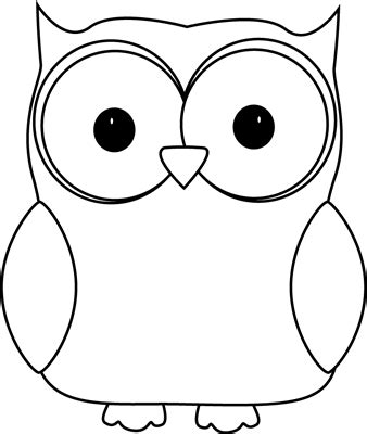 template of owl black and white owl clip black and white owl image