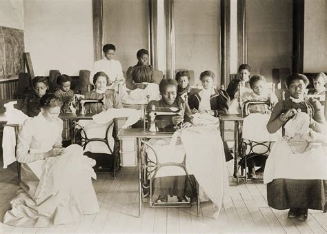 african american sewing blogs young african american women sewing photograph by everett