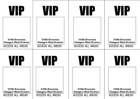 vip pass template bad jokes and oven chips vip passes