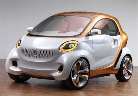 smart car daimler daimler smart forvision concept features sci fi touches