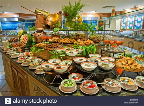 Selection Of Salads At A Buffet Bar In A Luxury Hotel Salad Buffet Restaurants