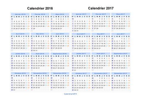 Calendrier In Calendrier 2016 2017 224 Imprimer Gratuit En Pdf Et Excel