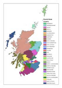 areas of map opinions on subdivisions of scotland