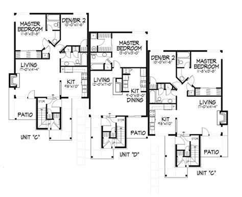 modern multi family house plans modern multi family house plans