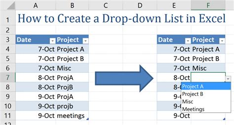 how to a to drop a how to create a drop list in excel