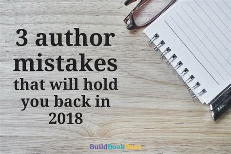 counselors beyond knowledge 2018 edition books 3 author mistakes that will hold you back in 2018 build