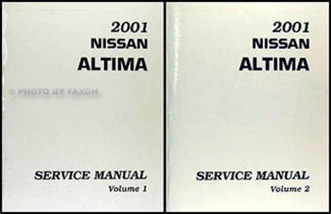2001 nissan altima repair shop manual set original