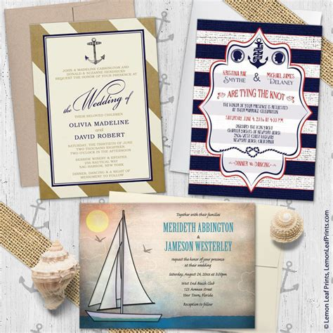 Boat Themed Wedding Invitations by Sailing Or Nautical Themed Wedding Invitations