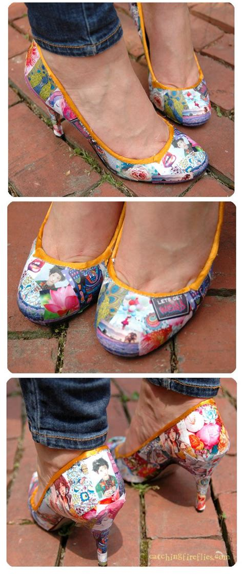 Decoupage Shoes Diy - 10 best counter tops in decoupage images on