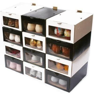 decoracion de cajas de carton para guardar ropa organizador de zapatos enorden frente transparente