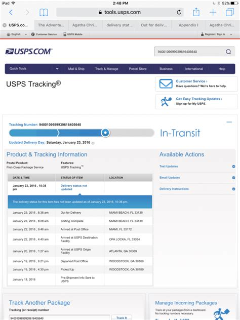 door to door tracking meaning what does delivery status not updated with usps