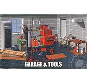 24 Garage And Tools Diorama  FUJ 11118 Fujimi