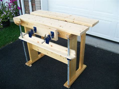 small woodworking bench plans small new fangled workbench finewoodworking