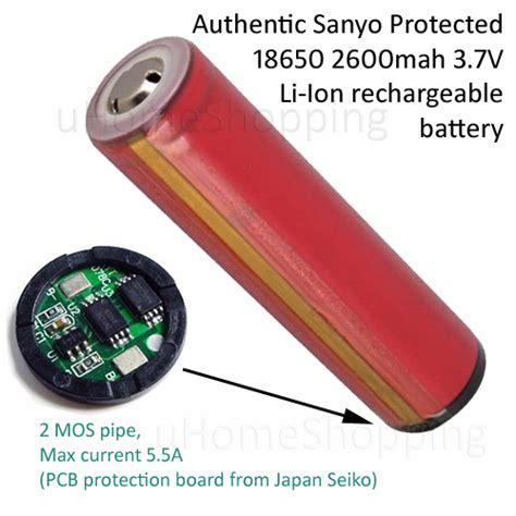 Lu Emergency Sanyo U Home Shopping Genuine Sanyo 18650 Protected 2600mah 3