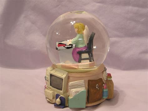 angel student snow globe music box 1970 now