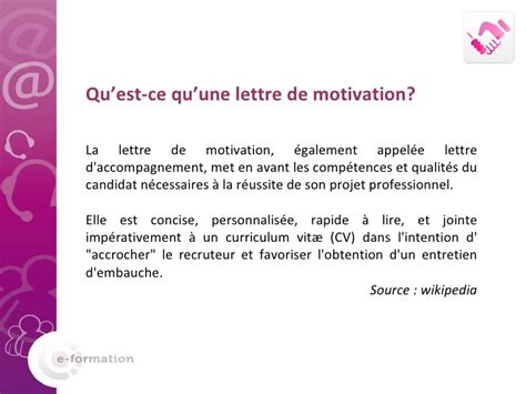 Conseil Lettre De Motivation Finance lettre de motivation wiki contrat de travail 2018