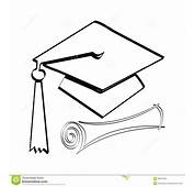 Diploma And Cap Stock Illustration Of