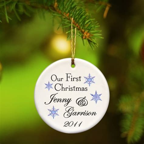 first christmas ornament personalized couples gifts