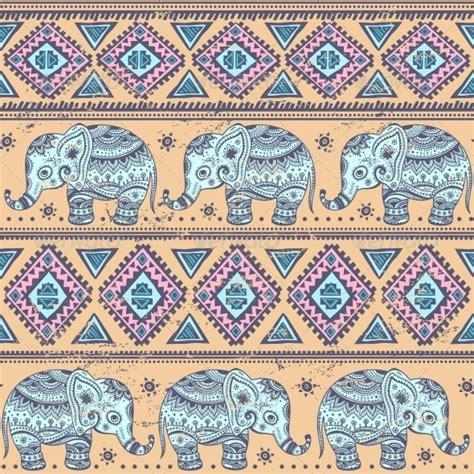 elephant pattern image seamless ethnic elephants arabic art flower frame and