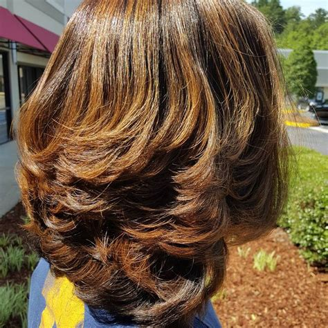 wrap hair with layers cut in layers using clippers only silk press on natural